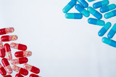 Red and blue pills Royalty Free Stock Images