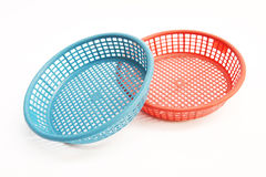 Red and blue plastic basket Stock Photography
