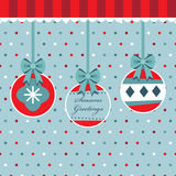 Red and blue polka dot christmas Stock Image