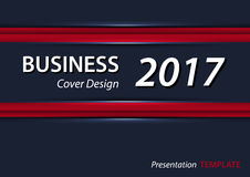 Red and blue presentation tempate or cover design . A4 horizontal size . Stock Images