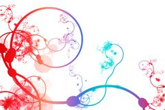 Red Blue Purple Abstract Curving Line Vines Royalty Free Stock Photos