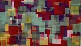 Red blue purple and green square pattern abstract. Background Royalty Free Stock Photo