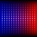 Red, blue and purple shining disco equalizer Stock Photos