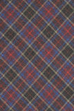 Red and Blue Plaid. High resolution background image of red yellow,purple and blue plaid  shot in studio Stock Photos