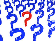 Red and blue question Royalty Free Stock Photography