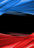 Red and blue rays on black background. High resolution abstract image. Ready for presentation Royalty Free Stock Photography