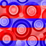 Red and blue retro circles Stock Photos