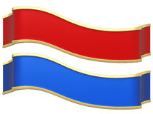 Red and blue ribbons Stock Image