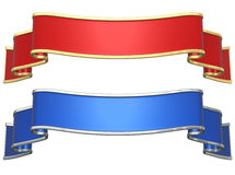 Red and blue ribbons Royalty Free Stock Image