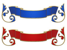Red and blue ribbons Stock Photo