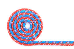 Red blue rope spiral Stock Image