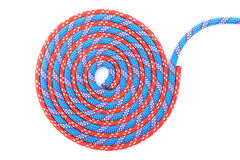 Red blue  rope spiral Stock Images