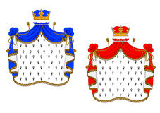 Red and blue royal mantles Stock Image