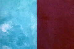red and blue shabby paint stucco background Royalty Free Stock Images