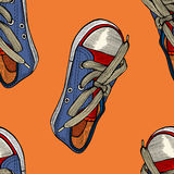 Red and blue shoes. Royalty Free Stock Images