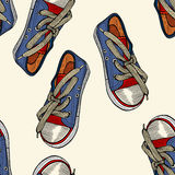 Red and blue shoes. Royalty Free Stock Photos
