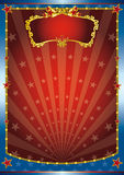 Red and blue show. Circus background for your. Read your message Royalty Free Stock Image