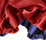 Red and blue silk Royalty Free Stock Images