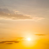 in the red blue sky cloud and sunrise orange color Royalty Free Stock Photos