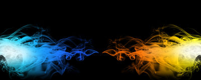 Red and blue smoke Stock Image