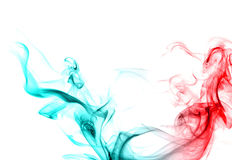 Red and blue smoke. Royalty Free Stock Photo