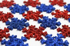 Red&Blue Snowflakes Royalty Free Stock Photo