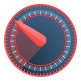 Red blue speedometer icon, cartoon style stock illustration
