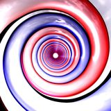Red and blue spirals perspecti. Red and blue spirals illustration made in 3D. Highly detailed with soft clouds reflection on the surface Stock Images