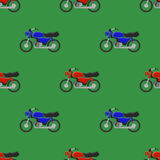 Red Blue Sport Bike Seamless Pattern Royalty Free Stock Image