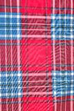 Red and blue square pattern tartan texture background. Seamless red and blue square pattern tartan texture background Royalty Free Stock Photography