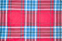 Red and blue square pattern tartan texture background. Seamless red and blue square pattern tartan texture background Stock Photos