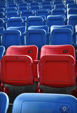 Red and Blue Stadium seating Stock Photo