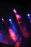 Red and blue stage lights. Stage lights during a concert royalty free stock photos