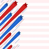 Red and blue star streaks patriotic background Royalty Free Stock Photo