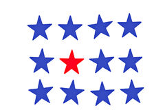 Red blue stars Stock Photos