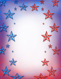 Red and blue stars Royalty Free Stock Photos