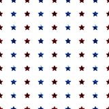 Red and Blue Stars Seamless Pattern. Columns of red and blue glitter stars on white background seamless pattern Stock Images