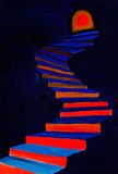Red and blue steps Royalty Free Stock Photos