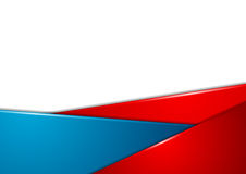 Red And Blue Stripes Corporate Abstract Background Stock