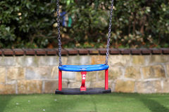 Red and blue swing Royalty Free Stock Photography