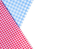 Red and blue tablecloth isolated on white Stock Photography