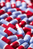 Red and blue tablets texture Stock Image