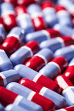 Red and blue tablets texture Stock Photo