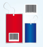 Red and blue tags Stock Image