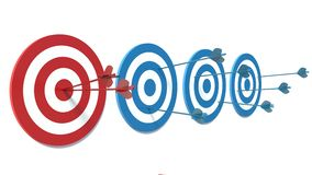Red and Blue targets. Success Stock Photos