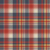 Red blue tartan fabric texture seamless pattern. Vector illustration Stock Images