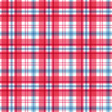 Red and blue tartan. Seamless pattern. Vector Stock Photography