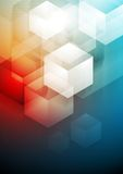 Red and blue technology art design Royalty Free Stock Image