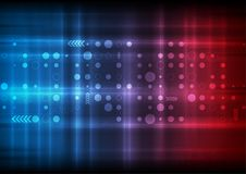 Red and blue technology sci-fi abstract background Royalty Free Stock Photo