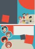 Happy cartoon family Stock Images